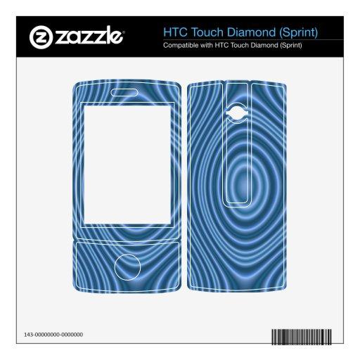 modelo de moda azul HTC touch diamond calcomanías