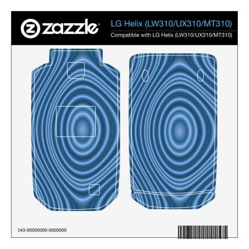 modelo de moda azul LG helix skins