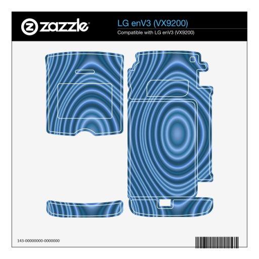 modelo de moda azul skins para LG enV3