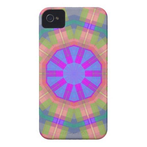 Modelo de moda colorido brillante iPhone 4 Case-Mate fundas