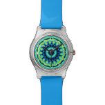 Modelo de moda colorido relojes de mano
