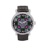 Modelo de moda colorido relojes de pulsera