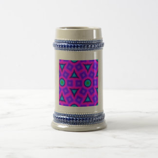 Modelo de moda colorido taza de café