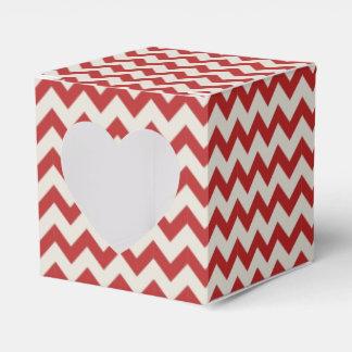 Modelo de moda de Chevron del zigzag en rojo Cajas Para Detalles De Boda