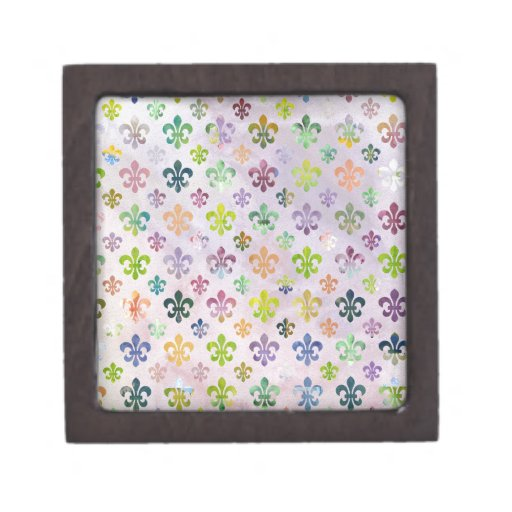 Modelo de moda de la flor de lis de la pintura de  caja de joyas de calidad