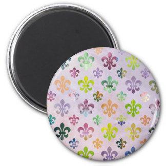 Modelo de moda de la flor de lis de la pintura de  imán de frigorífico
