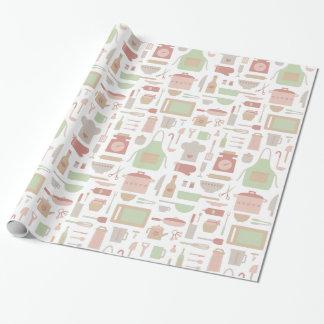 Modelo de moda de los utensilios de cocinar de la papel de regalo