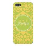 Modelo de moda del amarillo y de la verde lima, iP iPhone 5 Protector