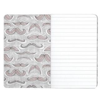 Modelo de moda del bigote cuaderno
