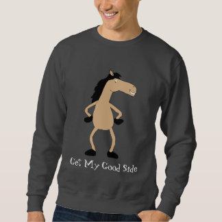 Modelo de moda del caballo del dibujo animado suéter