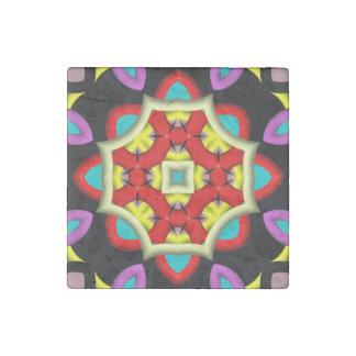 Modelo de moda del caleidoscopio abstracto imán de piedra