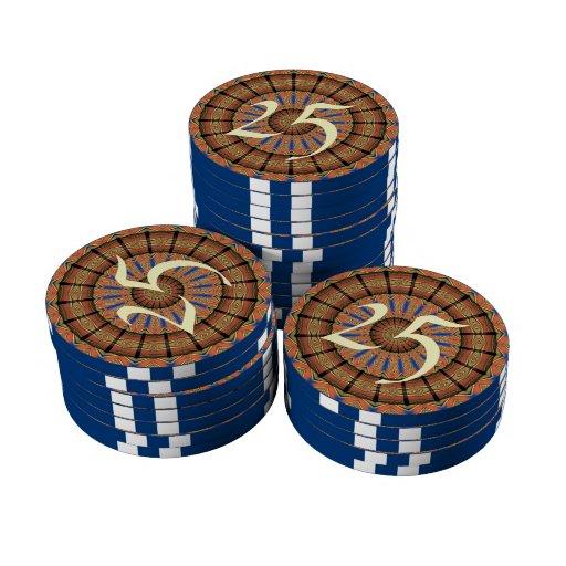 Modelo de moda del círculo de la capa juego de fichas de póquer