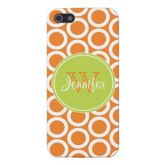 Modelo de moda del naranja y de la verde lima, iPh iPhone 5 Funda
