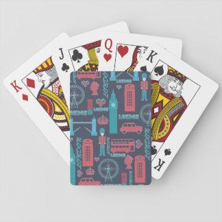 Modelo de moda fresco de los ejemplos de Londres d Baraja De Póquer