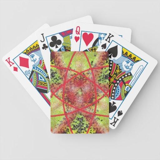Modelo de moda inusual cartas de juego