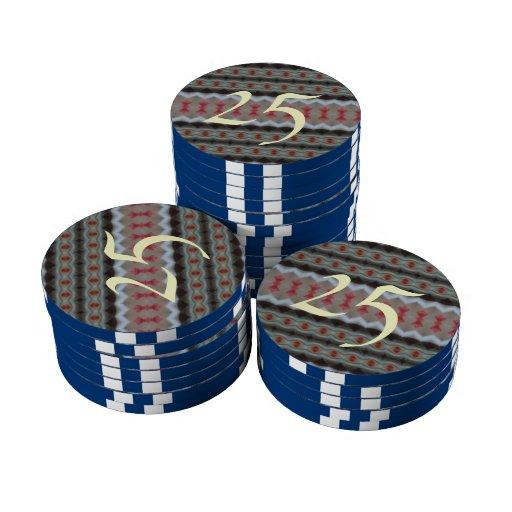 Modelo de moda moderno juego de fichas de póquer
