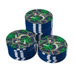 modelo de moda multicolor fichas de póquer