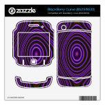 Modelo de moda púrpura colorido BlackBerry skins