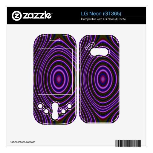 Modelo de moda púrpura colorido calcomanías para el LG neon