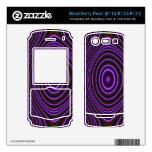 Modelo de moda púrpura colorido skins para BlackBerry