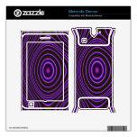 Modelo de moda púrpura colorido skins para motorola devour