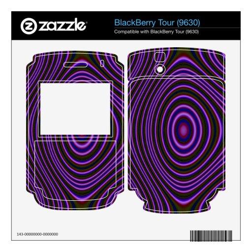 Modelo de moda púrpura colorido calcomanía para el BlackBerry