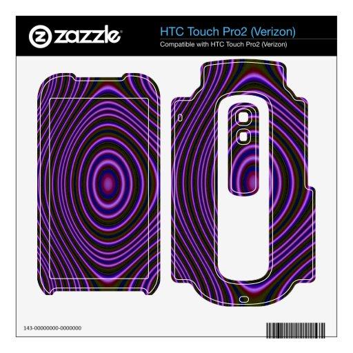 Modelo de moda púrpura colorido HTC touch pro2 skin