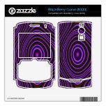 Modelo de moda púrpura colorido calcomanías para BlackBerry