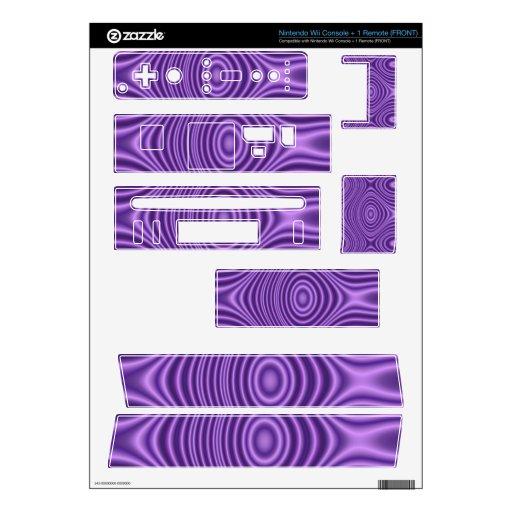 modelo de moda púrpura skin para el wii