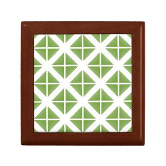 Modelo de moda verde del triángulo caja de regalo