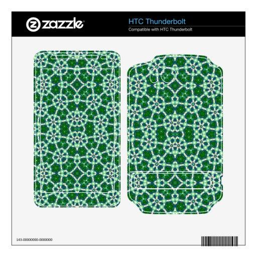 Modelo de moda verde HTC thunderbolt skins