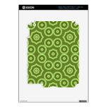 Modelo de moda verde iPad 3 pegatina skin