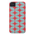 Modelo de moda y moderno iPhone4/4s del rojo y de  iPhone 4 Case-Mate Protectores