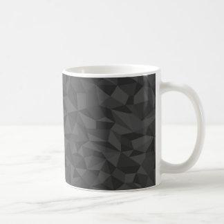 Modelo de mosaico abstracto de los grises carbones taza de café