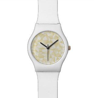 Modelo de mosaico abstracto del oro relojes de mano