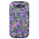 Modelo de mosaico abstracto rosado púrpura galaxy SIII cobertura