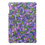 Modelo de mosaico abstracto rosado púrpura iPad mini cobertura