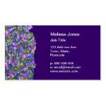 Modelo de mosaico abstracto rosado púrpura tarjetas de visita