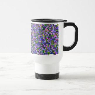 Modelo de mosaico abstracto rosado púrpura tazas de café