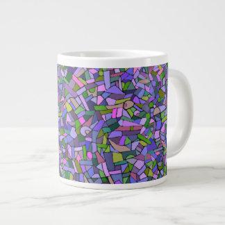Modelo de mosaico abstracto rosado púrpura tazas extra grande