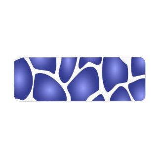 Modelo de mosaico al azar azul profundo etiqueta de remite