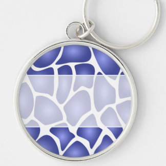 Modelo de mosaico al azar azul profundo llaveros