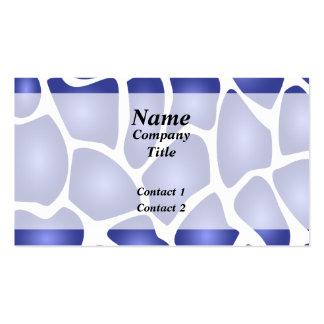 Modelo de mosaico al azar azul profundo tarjeta de visita