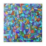 Modelo de mosaico azul colorido abstracto azulejos ceramicos