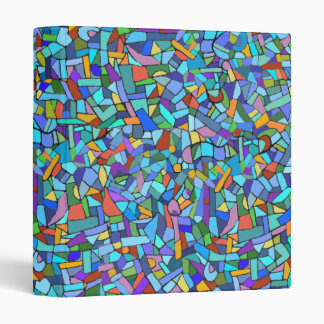 Modelo de mosaico azul colorido abstracto