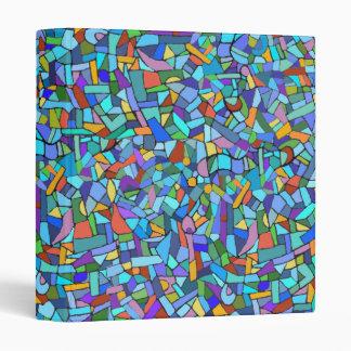"""Modelo de mosaico azul colorido abstracto carpeta 1"""""""