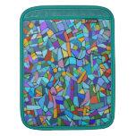 Modelo de mosaico azul colorido abstracto funda para iPads