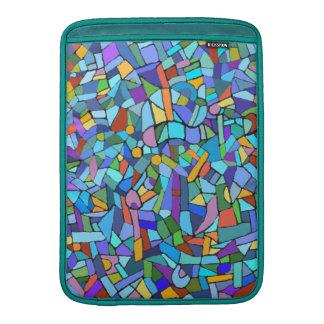 Modelo de mosaico azul colorido abstracto fundas para macbook air