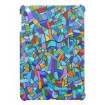 Modelo de mosaico azul colorido abstracto iPad mini cárcasa