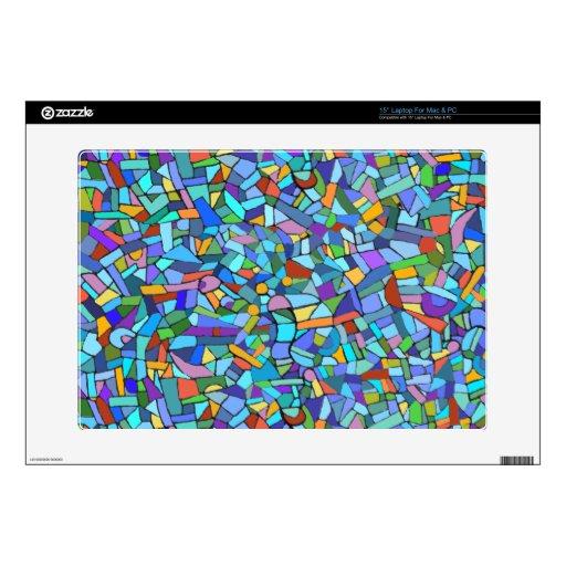 Modelo de mosaico azul colorido abstracto skins para 38,1cm portátil